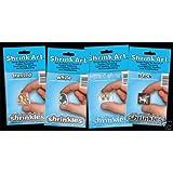 Pack Of 6 Shrinkles Small White Shrink Art Platic Sheets 101x131mm