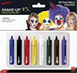 Smiffys 37803 Déguisement Crayons de Maquillage Mine Rétractable Lot de 8, Multicolore, Taille Unique