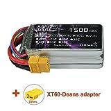 HRB LiPo Batterie 1500mAh 11.1V 25C 3S Prise XT60,T pour FPV Racing Quadricoptère Racing hélicoptère Drone