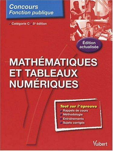 Mathématiques et tableaux numériques : Catégorie C
