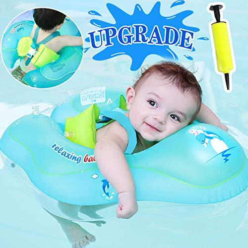 GBD Flotador de Natación para Bebés,Anillo de Natación Bebé Juguetes de Piscina Niños Natación Anillo Cintura Flotadores inflables Entre 6 a 30 Meses para Bebé Baño de Agua Juguetes