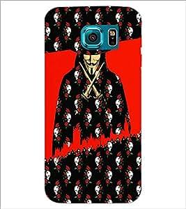 PrintDhaba Vendetta D-3508 Back Case Cover for SAMSUNG GALAXY S6 EDGE (Multi-Coloured)