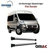 Alu Dachträger Gepäckträger Dachreling GRAU Fiat Ducato mit TÜV / ABE (ELG)