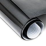 JOM Car Parts & Car Hifi GmbH JOM 700030 Carbonfolie hochglanz Schwarz 152 x 200 cm, 5D Struktur, blasenfrei mit Luftkanälen, geeignet für Innen u. Außen, Selbstklebend, PVC