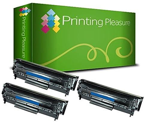 3 Compatible Q2612A 12A Canon FX-10 FX-9 303 703 Cartouches de Toner pour HP Laserjet 1010 1012 1015 1018 1020 1020 Plus 1022 1022N 1022NW 3015 3020 3030 3050 3052 3055 M1005 MFP M1319F MFP Canon LBP-2900 LBP-2900i LBP-2900B LBP-3000 I-Sensys MF-4010 MF-4012 MF-4014 MF-4050 MF-4012 MF-4014 MF-4050 MF-4100 MF-4120 MF-4140 MF-4150 MF-4210 MF-4270 MF-4320D MF-4330D MF-4340D MF-4350D MF-4370DN MF-4380DN MF-4660PL MF-4669PL MF-4690PL Fax L95 L100 L120 L140 L160 PC-D440 PC-D450 - Noir, Grande Capacité