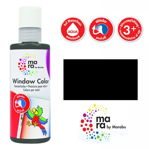 mara by Marabu Window Color, 80 ml, konturen-schwarz VE = 1