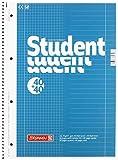Brunnen 106797418 Notizblock/Collegeblock Student Duo (A4 liniert (Lineatur 27, Lineatur 28) 70 g/m² 40 Blatt liniert, 40 Blatt kariert) 5 Stück