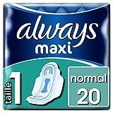 Always Maxi Normal T1Servietten mit Flügeln 20Hüllen Einzelzimmer-4Stück