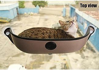 Zantec Katzen-Hängematte mit sanfter Matte, starke Saugnäpfe, warmes Nest für Haustiere