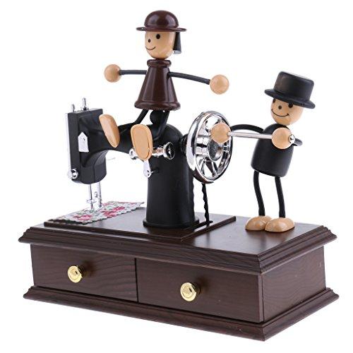 Baoblaze Caja Musical Juguetes Regalos para Niños Decoraciones de Casa Oficina - Máquina de Coser