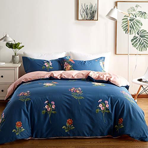 GAIHU Cotton Bettwäsche Bettwäsche Abdeckung 1,5 M-1,8 M Bett 4 Stück Set Studentenwohnheim Doppelbett Liefert,B,1.5M (Gedruckte Bett-set)