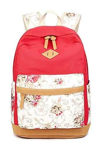 Longzibog Dual verstellbare Schultergurte und Hängeschlaufenband 2016 Neue Damen accessories hohe Qualität Einfache Tasche Schultertasche Freizeitrucksack Tasche Rucksäcke Rot