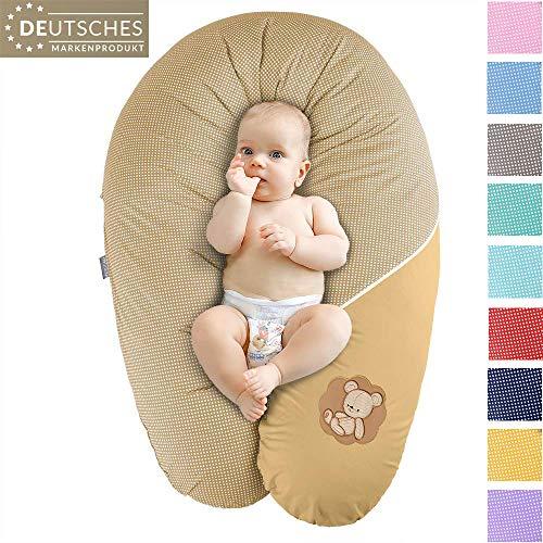 Sei Design Coussin d'allaitement et de Grossesse | Maternité Bebe Oreiller XXL 190 x 30 cm | Remplissage Hypoallergénique | Taie 100% Coton Amovible et Lavable