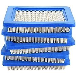 TOPINCN Lot de 5 filtres à air pour Tondeuse à air pour Gazon Briggs et Stratton 491588 491588S 399959 John Deere PT15853