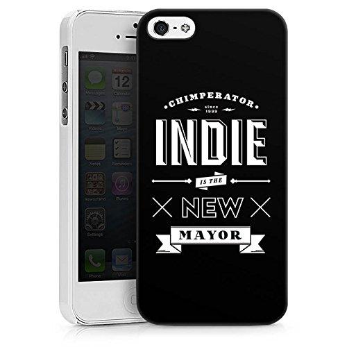 Apple iPhone X Silikon Hülle Case Schutzhülle Chimperator Fanartikel Merchandise Indie is the new Mayor Hard Case weiß