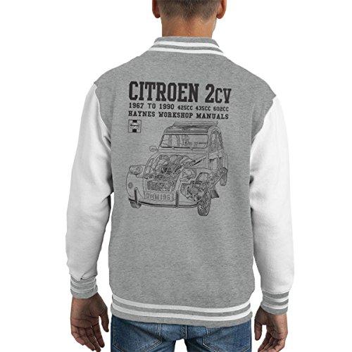 POD66 Haynes Owners Workshop Manual Citroen 2CV Black Kid's Varsity Jacket