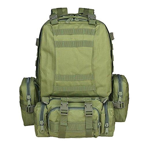 Imagen de  táctica militar versión actualizada, topqsc  de moda 55l múltiples colores para senderismo montañismo marcha macuto al aire libre bolsa de viaje de calidad alta verde militar