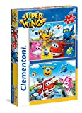Clementoni–52240–Puzzle–superwings–2x 20Piezas