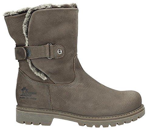 PANAMA JACK Damen Winterstiefel Felia Igloo,Frauen Winter-Boots,Fellboots,Lammfellstiefel,Fellstiefel,gefüttert,Warm,Khaki,EU 42
