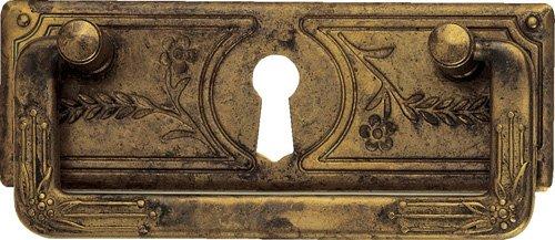 Griff Jugendstil Liberty mit Schlüsselloch 42 x 97 - Qualität aus Europa seit 1998 (Liberty Kommode Möbel)