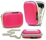 Navitech Rosa Wasser wiederständige Harte Digital Kamera Tasche für das Maginon Z1650 ( As Sold In Aldi)