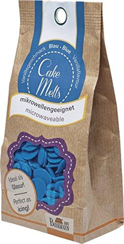 Birkmann CakeMelts, Fettglasur (Lebensmittel), blau, 250 g (Cake Schokolade Für Pops)