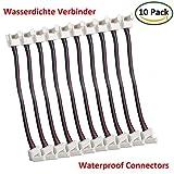 LitaElek 10x Wasserdicht RGB 5050 Schnellverbinder LED Stripe Verbinder Adapter