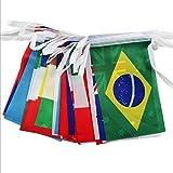 WM 2018 Fahnenkette Girlande alle 32 WM Teilnehmer Länder 15