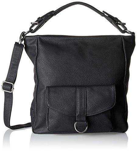 Fritzi aus Preußen Damen Dalila Umhängetasche, Schwarz (Black), 4x11x19,5 cm - Leder Chic Handtasche