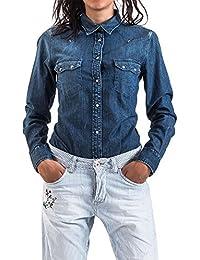 Meltin'Pot - Jeans Chemise CLEA D1900-UB552 pour femme, style slim, manches longues