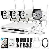 Zmodo Système de surveillance vidéo 700 TVL 8CH 960H/D1 DVR avec 8 caméras de surveillance haute résolution vue nocturne résistantes à tous les temps Filtre IR-Cut Connexion HDMI Sans disque dur