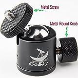 """Metall klein Kugelkopf-gelenk mit 1/4"""" Schraube Adapter Set - Tripod Mini Ball Head mit 1/4"""" Gewinde für DSLR Kamera / Gopro / Smartphone - 360° drehbar(Schwarz Mini Stativkopf)"""