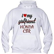 Felpa Con Cappuccio BASIC top qualità top vestibilità - I LOVE MY HONDA CBR moto corse humor divertenti MADE IN ITALY