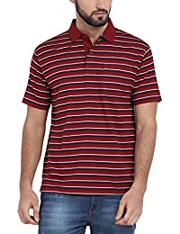 Classic Polo Red Striped Polo T-Shirt For Men