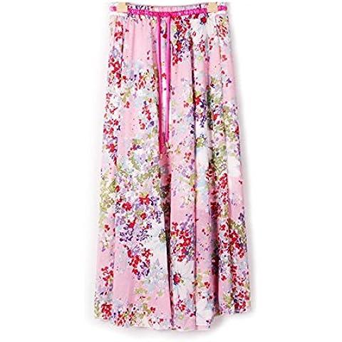 Kaxuyiiy Donne Boemia estate fiore farfalla partito spiaggia elastico in vita maxi gonna a pieghe lunga Long Skirt