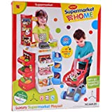 IGP Luxury Supermarket Shop Role Playset Toy For Kids With Shopping Cart 32Pcs