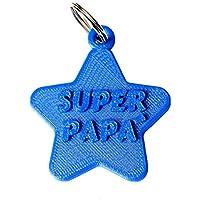 """Portachiavi Stella """"Super Papà"""""""