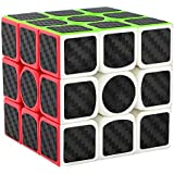 Spincart Stickerless High Speed Carbon Fiber 3x3 Magic Rubik Cube Puzzle Toy With Adjustable Speed, Brainstorming Puzzle Game Toy