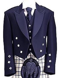Bleu Prince Charlie Veste et gilet pour Kilt écossais Coatee formelle Scottish Highland l'usure