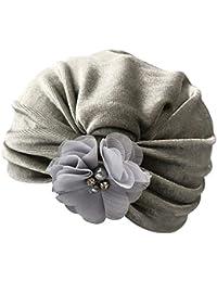 1553e8cba88e Webla 1 Pc Nouveau-Né Enfants Bébé Garçon Fille Coton Fleur Turban Bonnet  Chapeau Chapeau Casquette Couvre-Chef Chapeaux pour…