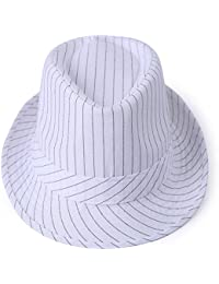0bb08baa06d Amazon.co.uk  White - Fedoras   Trilby Hats   Hats   Caps  Clothing
