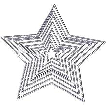 Wohlstand 8 Piezas Troqueles de corte de metal Plantilla de dados de corte de estrella de