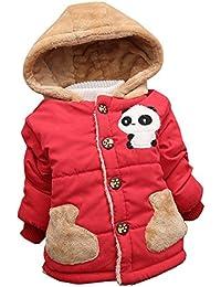 Bebé abrigo con capucha , Yannerr niños niñas Panda Dibujos encapuchados chaqueta capa ropa outwear gruesa caliente