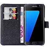 Hochwertige Kunst-Leder-Hülle mit Magnetverschluss für Samsung Galaxy S7 Edge von mangao® Case Handytaschen