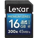 Lexar Premium Series 16 Go Carte mémoire SDHC Classe 10 UHS-I 300x LSD16GBBEU300