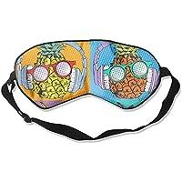 Comfortable Sleep Eyes Masks Halftone Pineapple Pattern Sleeping Mask For Travelling, Night Noon Nap, Mediation... preisvergleich bei billige-tabletten.eu