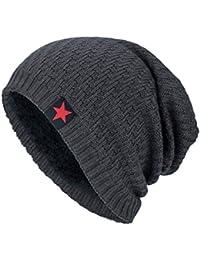 Fossen Unisex Gorra de Punto Invierno Templado Tejer Lana Sombrero para  Hombre Mujer (Gris) 8bf4dea66b8