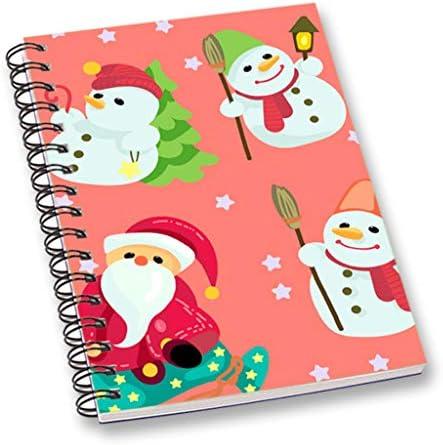RADANYA Cahier/Journal De De De Pêche De Carnet De Notes Imprimé Joyeux Noël, 120 Pages Dirigées Par Un Collège, Couverture Laminée Durable 56445e