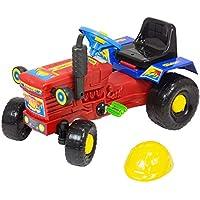Trattore a pedali per bambini, colore: rosso