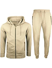 Mens Tracksuit Set New Contrast Cord Fleece Hoodie Top Bottoms Jogging Zip  Joggers Gym Sport Sweat 406f69c67ea2
